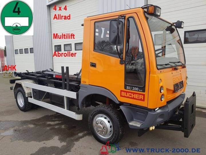 Multicar Bucher BU 200 4x4 Multilift Arbeitsplatte Euro 4 - 2006
