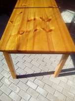 Solid Rectangular Pine table
