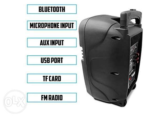 "Trolly Karaoke multimedia Speakers 8"" with wireless microphone شويفات -  6"