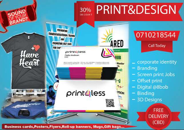 Affordable print and Brand Service?Let us Help you Today. Nairobi CBD - image 1