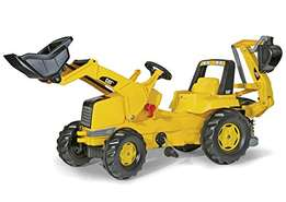 JCB Tractor with Frontloader and Trailer Toy