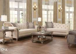 Trivette Living room sofa set + center table + corner table