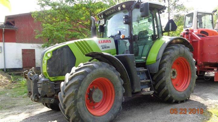 Claas Arion 650 Cebis Centralsmøring For Foraksel. - 2013