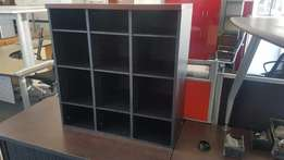 12 Tier Black & Mahogany Pigeon Whole Cabinet, CapeOffice2nds!!