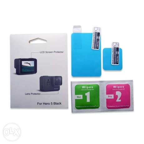 LCD Screen Film + Lens Protective Film + Cloth For Gopro Hero 5 6 7