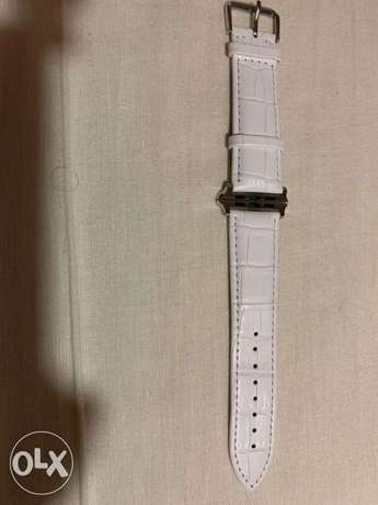 Apple watch white leather band