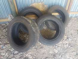 New second hand tyre of mark X and shock for Subaru impreser