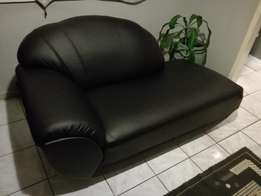 Black Leather Couch For Sale.