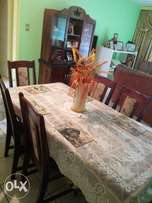 Dining room suite, display unit and six chairs,very good condition