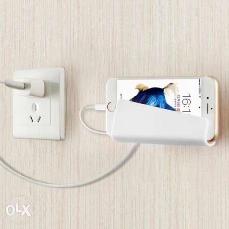 Creative Traceless Wall Adhesive Stand Mount Mobile Phone Taking Charg