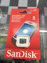 San disk 8gb memory card brand new and sealed in a shop