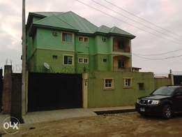 Sharp 6 blocks of 3 bedroom flat with miniflat for sale at Ago Okota