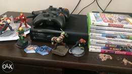 XBOX 360(4GB), extra console, 9 games, infinity
