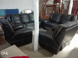 Leather recliner..