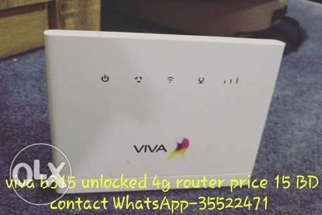 viva B315 unlocked 4G router for sell any sim support price-15Bd
