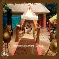 Traditional wedding decoration and cakes