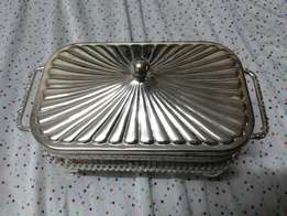 Chrome Decorative Butter Dish
