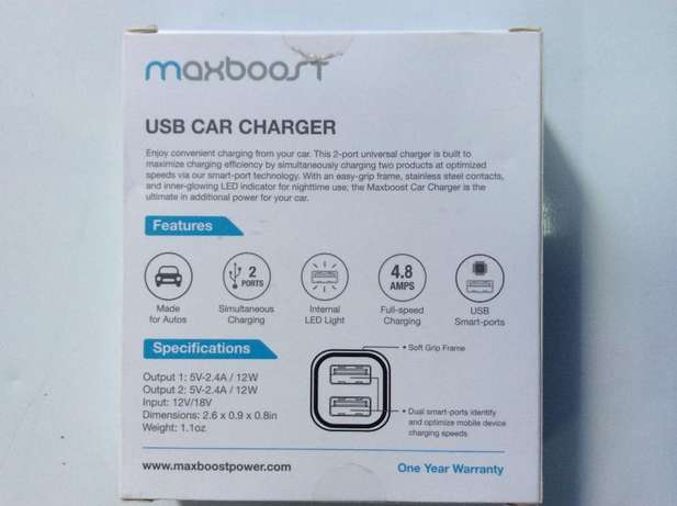 Car Charger Smart Port Car Charge r [Black] Nairobi West - image 2