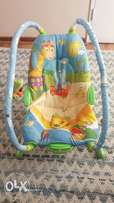 Baby movable carrier and entertaining bath mat