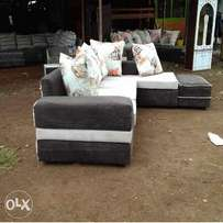 6 seater L shaped sofaset plus ottoman