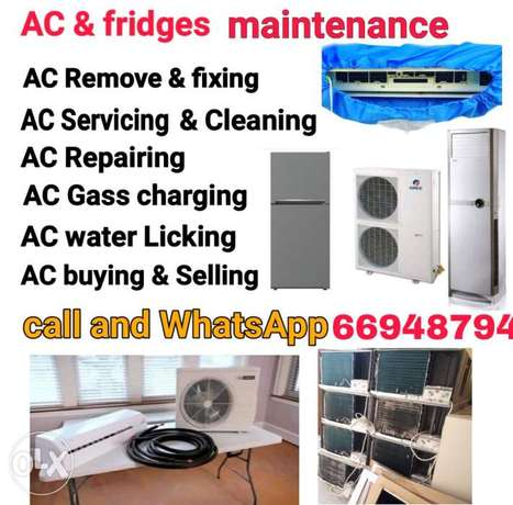 AC services repairing fixing selling and buying