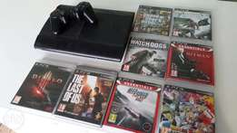 Playstation 3 Superslim with 8 games