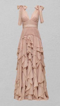 48eb40b62f hm h m sukienka suknia S pudrowy falbany studio conscious exclusive  Warszawa - image 1