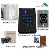 Access control with a RFID cards and a back up battery