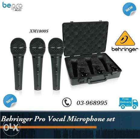 Behringer XM1800S Dynamic Vocal & Instrument Microphone (3-pack)