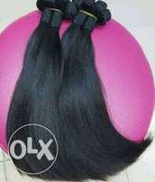 Single drawn hair 14inches