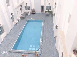 for rent 3 master bedrooms with shared pool and gym in fintas