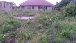 Land with a storey building footing for sale.