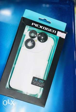 PICKOGEN iPhone 6G/6S Premium 4-in-1 Camera Lens with Case - White