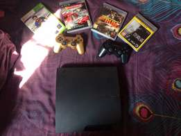 PS3 plus 4 games for sale