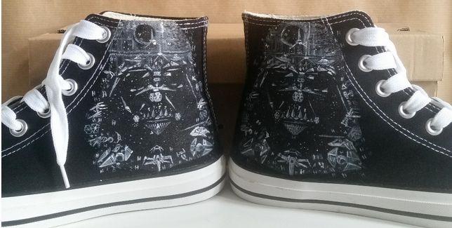 Star wars trampki czarne 37 ręcznie malowane converse