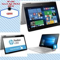 "HP Pavilion X360 - 15.6"" - Intel Core i3 7th Generation - 8GB RAM - 10"