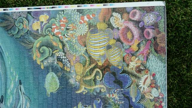 1500 piece completed ocean puzzle River Crescent - image 4