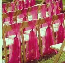 Dressed foldable chairs for hire. Spectrum Events.