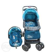 Baby's stroller and a car seat.