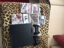 Slimline PS3 with games and remotes