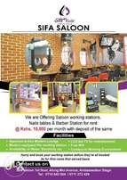 Saloon Work station, barber, Nails Table for rent monthly