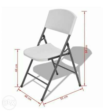 Foldable Garden Chairs Seat Stool Outdoor Furniture HDPE