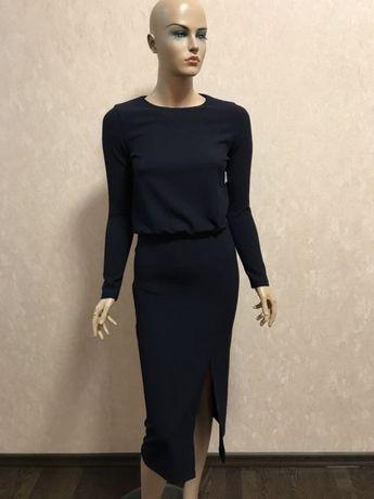 a747475fd20 Стильное тёмно-синие платье Zara Trafaluc