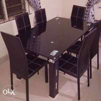 Original Black dinning with chair T18