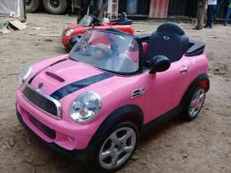 Electric ride on cars. The kids get to drive themselves for hire
