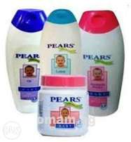 Pears Baby Lotion, Oil, Powder & Jelly - 4 Units