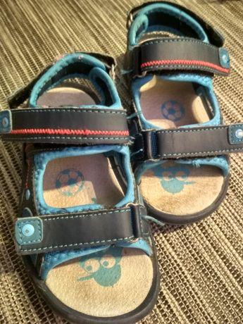 skórzane sandały dla chłopca rozmiar 28