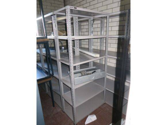 Sale 10 metal shelves warehouse shelving for  by auction