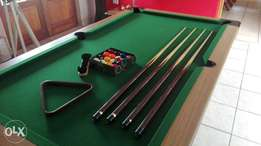 Pooltable with all accessories