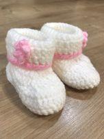 242e5968 Wełniane buciki dla noworodka/niemowlaka